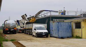 Pulizia Biogas pompa escavatore