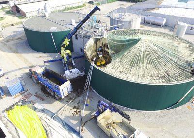 Pulizia Digestore Biogas