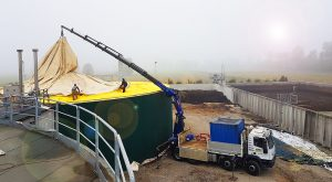 Ripristino telo Vasca Biogas