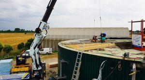 Ripristino travi Digestore Biogas